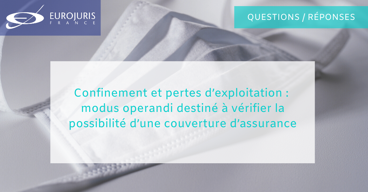 Confinement et assurance